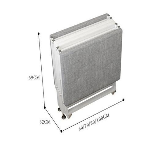 GIƯỜNG ĐƠN GẤP GỌN 4 MIẾNG CÓ BÁNH XE DI CHUYỂN 190x70cm (Giao màu ngẫu nhiên)
