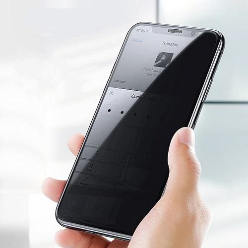 Kính cường lực siêu bền Baseus Curved chống bám vân tay dành cho iPhone ( nhiều lựa chọn ) - Hàng chính hãng
