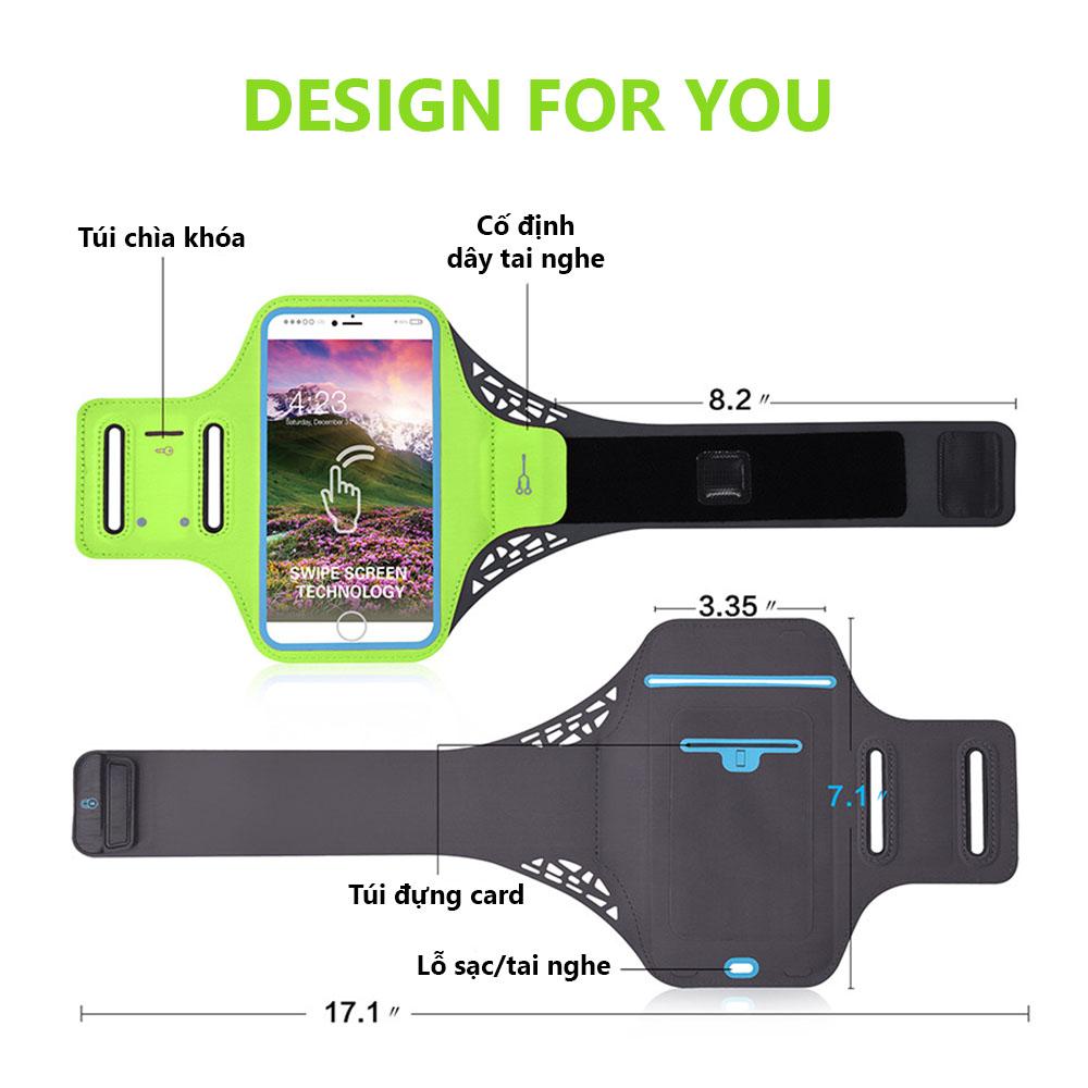 Bao, Túi đựng Điện Thoại tới 6.5 Inch Đeo tay chạy bộ ,Tập thể dục Rhino B103 Kháng nước, chống thấm, có thể cắm tai nghe phù hợp điện thoại Samsung, Iphone, Sony, Xiaomi,... - Hàng chính hãng