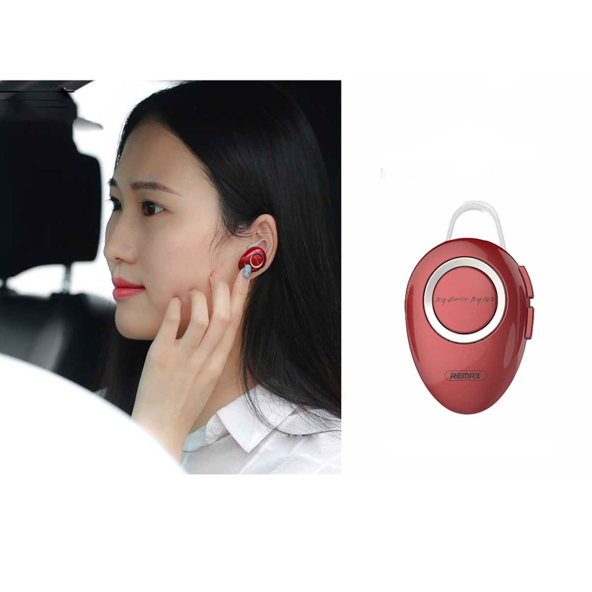 Tai Nghe Bluetooth V4.2 Nhét Tai Remax RB-T22 Hạt Đậu + Tặng Iring Khay - Chính hãng