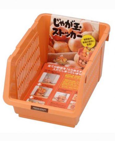 Giá đựng hoa quả, đồ khô dạng lưới màu cam nội địa Nhật Bản
