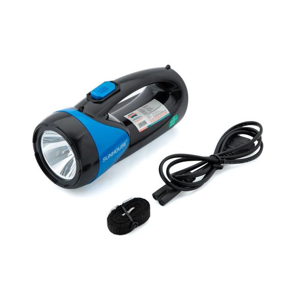 Đèn Pin, Đèn Tích Điện Xách Tay 2 Chức Năng Sunhouse SHE-8200 - Chính Hãng