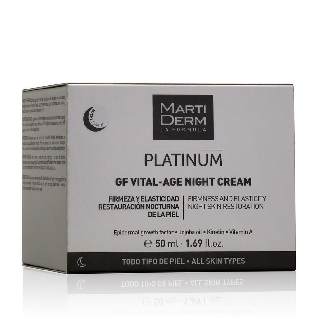 Kem Dưỡng Phức Hợp 1% Retinol Phục Hồi & Trẻ Hóa - MartiDerm Platinum GF Vital Age Night Cream (50ml)