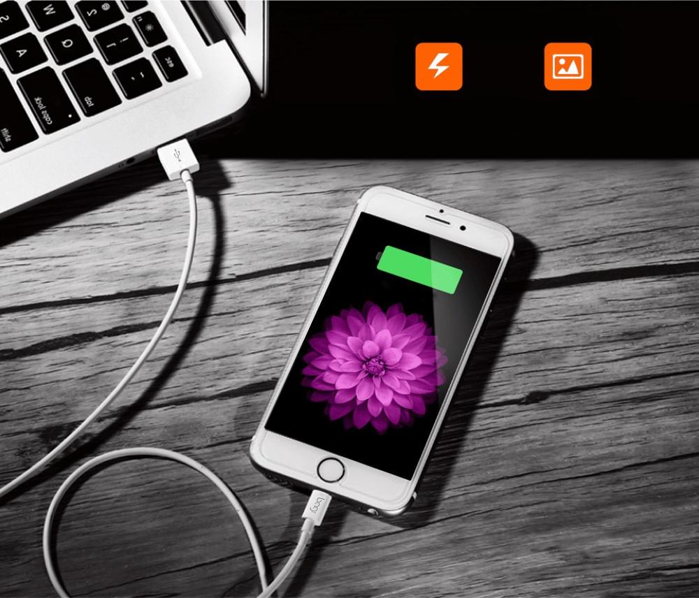 Dây Cáp Ngắn Sạc Nhanh Dài 30cm Cho IPhone,IPad - Bagi IB30 - Hàng Chính Hãng