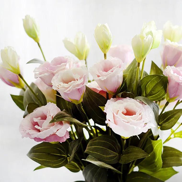 Hoa giả - Combo 10 cành hoa như ý cát tường trang trí phòng khách, spa, kệ tivi,...mang đến bình an, tài lộc không kèm bình, lọ (tặng đèn led)