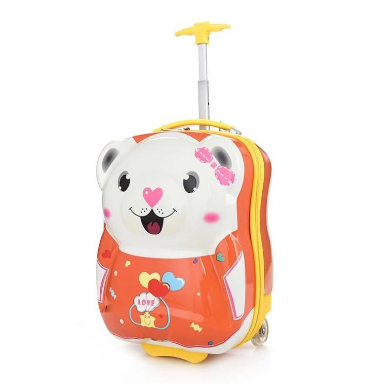 Vali Kéo Trẻ Em Gấu Mập Cute - Bánh xe có đèn - Dành cho bé đi du lịch
