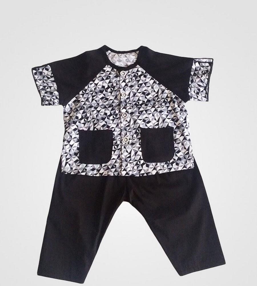 Bà ba dài áo tay ngắn bé gái Họa tiết đen cotton - AICDBGZ1OLNI - AIN Closet