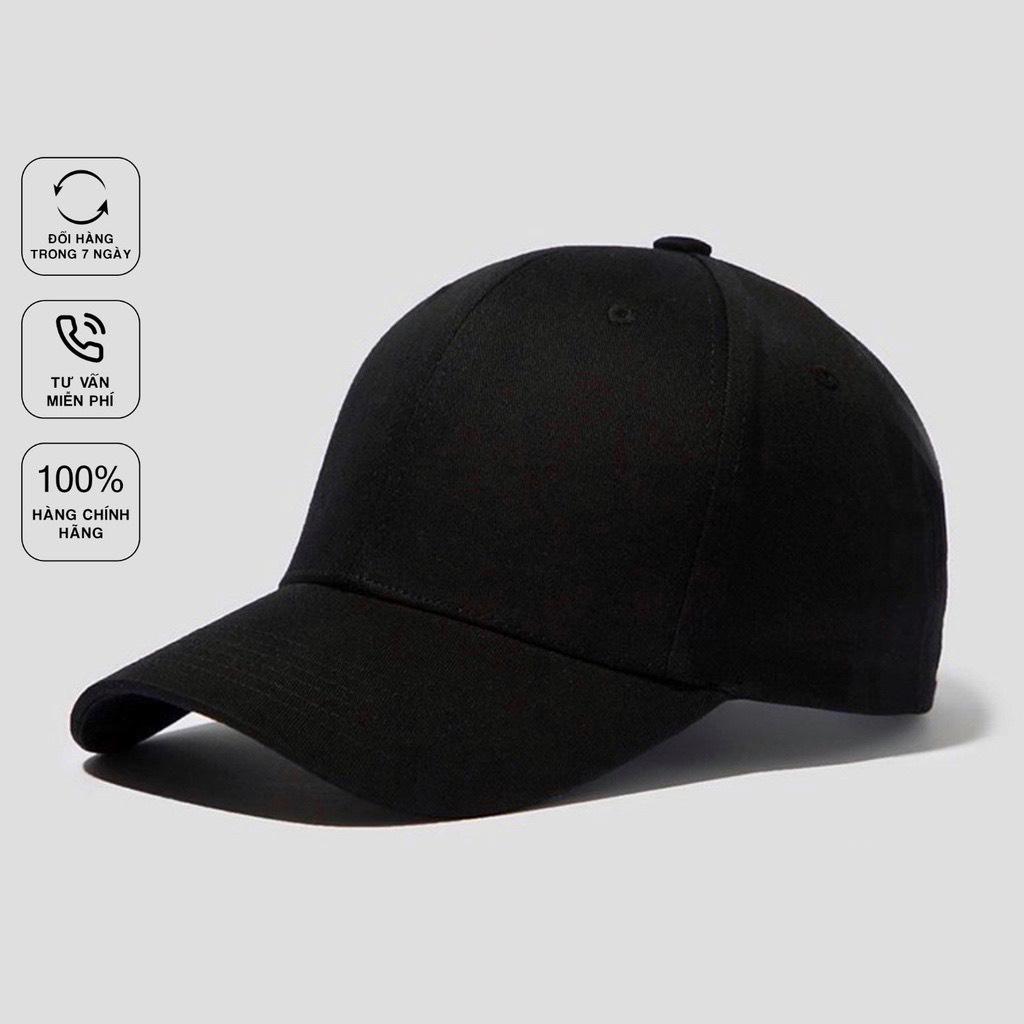 (Hàng VNXK) Nón lưỡi trai nam ĐEN TRƠN vải KAKI nhập thời trang (ẢNH THẬT)_Cap002