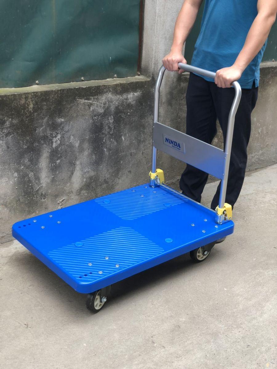 Xe đẩy hàng sàn nhựa NiNDA FD300 tải 300kg