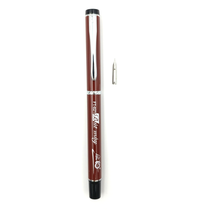 Bút Máy Điểm 10 FT-021 Plus - Tặng Kèm 2 Bút Gel-027 - Màu Nâu