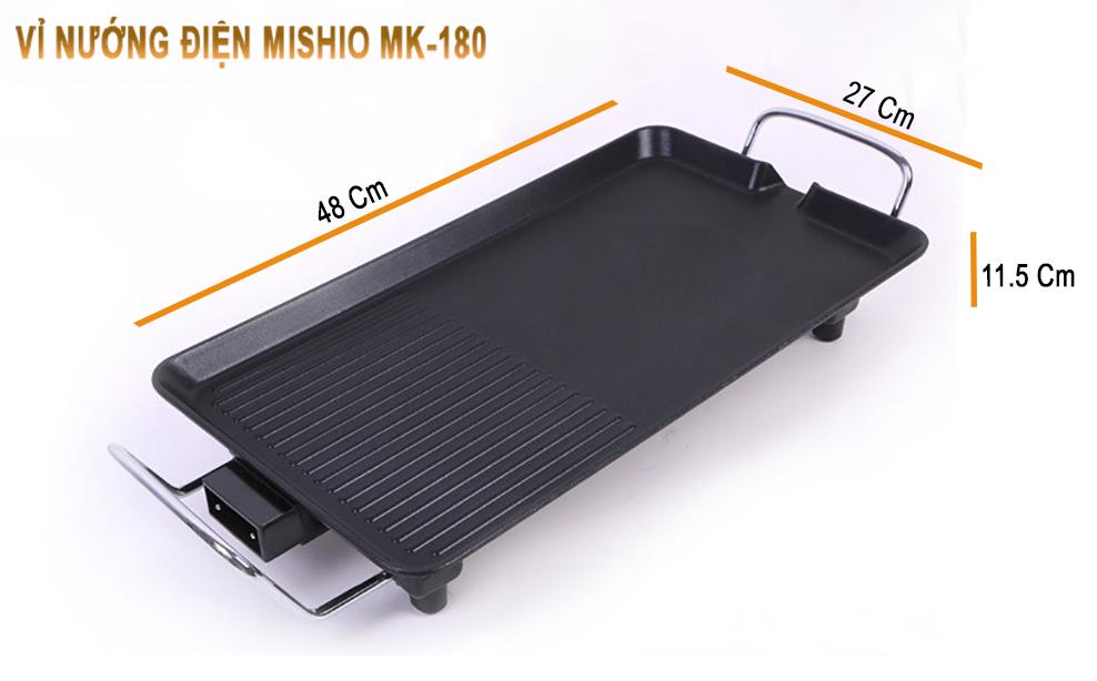 Vỉ nướng điện Mishio MK180 1350W - Hàng chính hãng