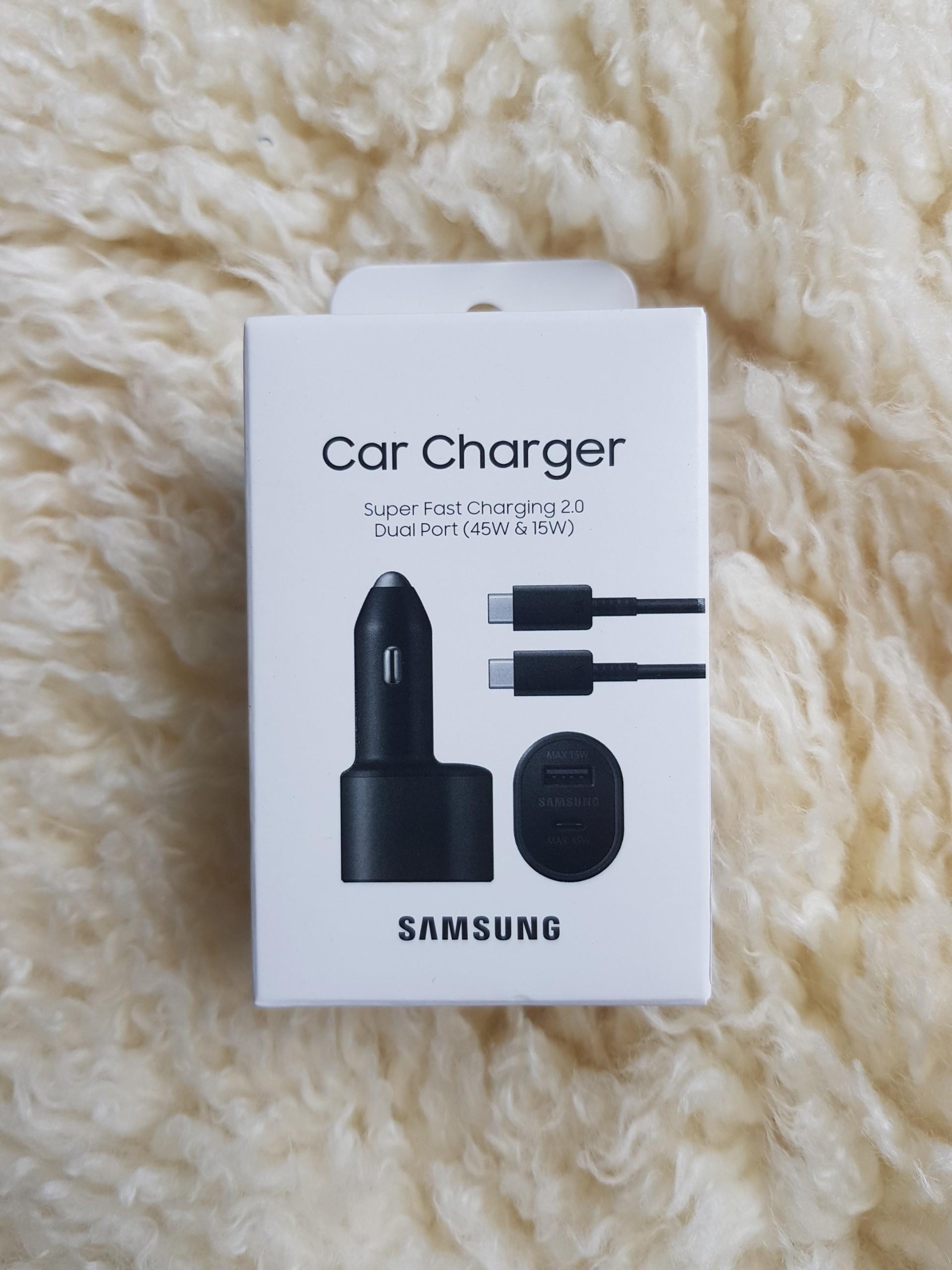 Sạc Đôi Xe Hơi - Ô tô Samsung ( L5300 ) - Car Charger Super Fast Charging 2.0 - Dual Port ( 45W Type C & 15W USB) Kèm Cáp 5A- Chính Hãng Samsung Việt Nam Phân Phối