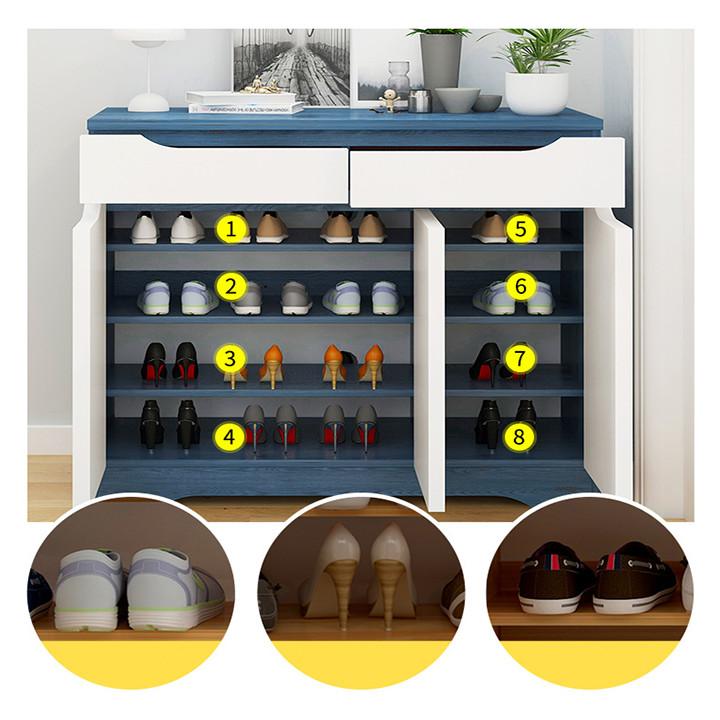 Tủ giày 3 cánh 2 ngăn kéo tủ giày mặt gỗ cao cấp TUR009 giao màu ngẫu nhiên