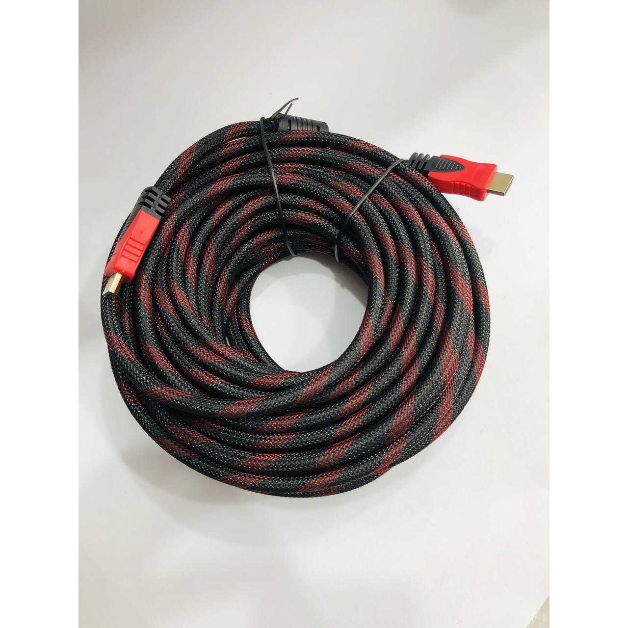 Cáp HDMI dây tròn dù dài 15m (YH-19)