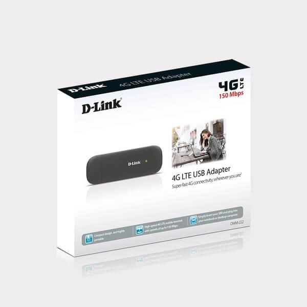 USB Dcom 3G 4G D-LINK DWM-222- Tốc độ 150Mbps – Dùng Đa Mạng - Hàng Chính Hãng