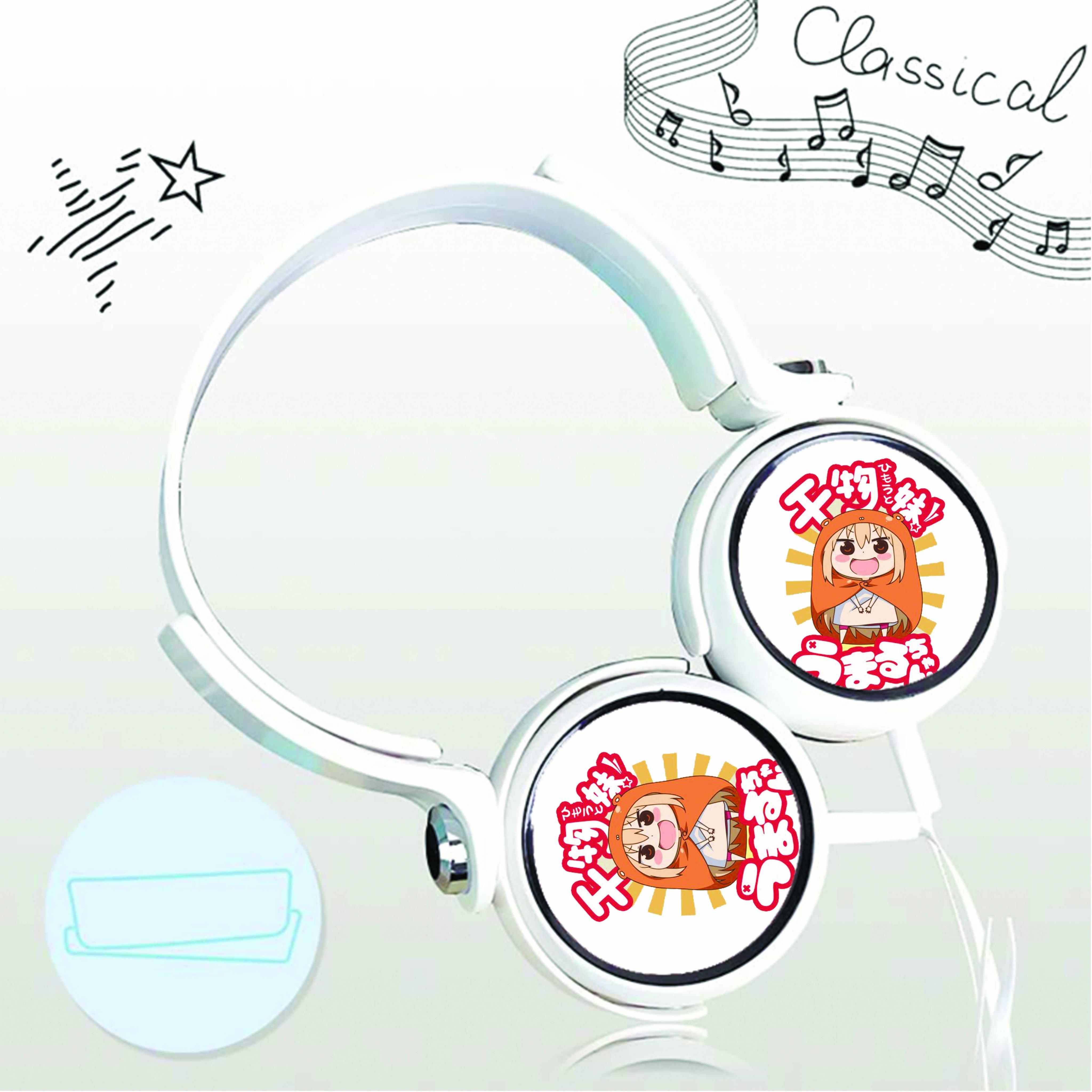 Tai nghe chụp in hình Himouto! Umaru-chan - Cô Em Gái Hai Mặt anime cắm dây có mic