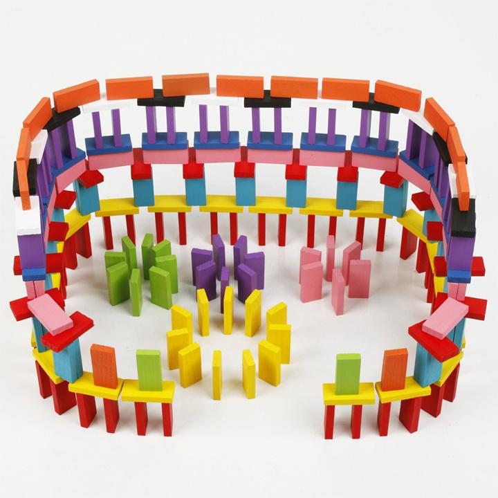 Đồ chơi gỗ Domino 12 màu 120 miếng - TotdepreHG2032