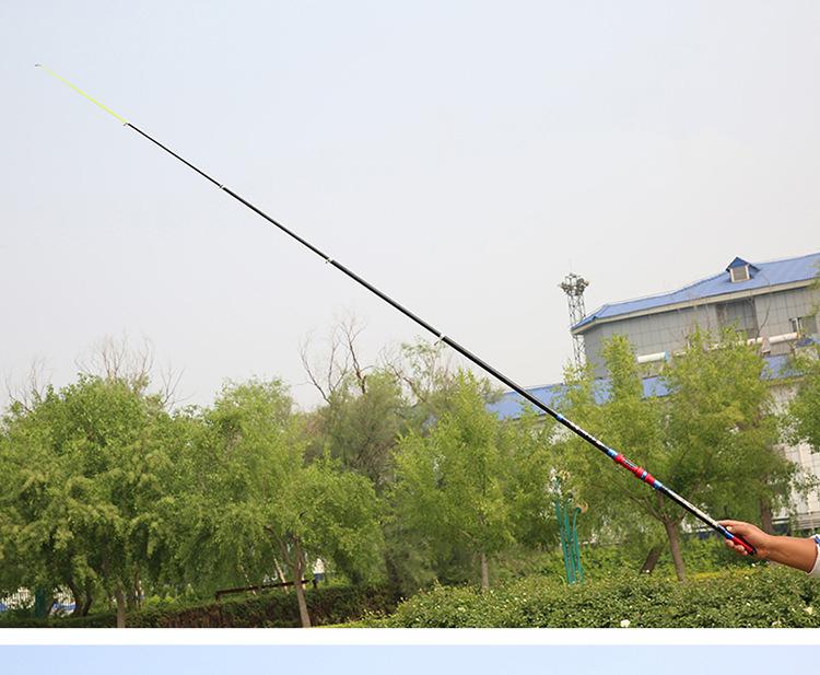 Cần câu cá 2m1 - Cần Chính hãng - Chất liệu carbon cao cấp - Siêu bền - Tặng kèm cước 100m