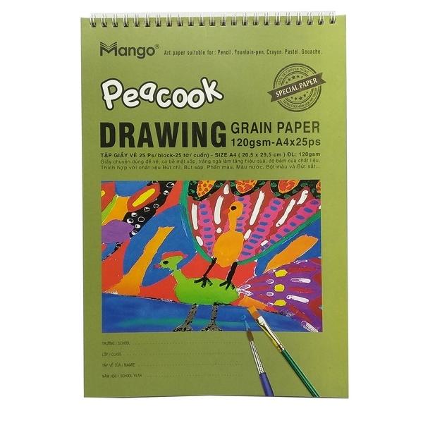 Tập Vẽ A4 Lò Xo Peacook