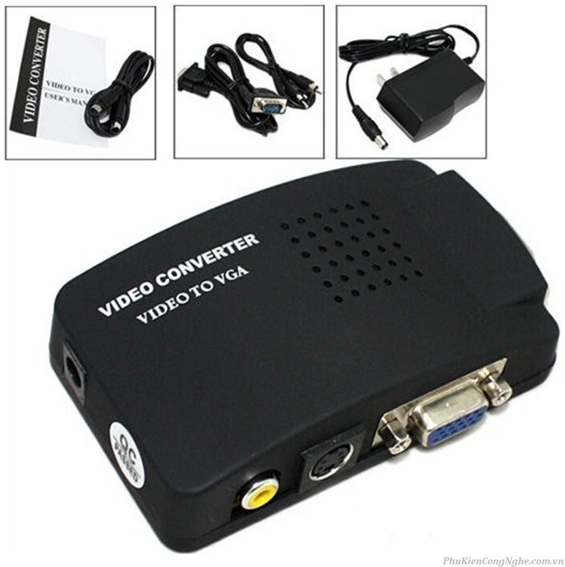Bộ chuyển VGA to AV (Svideo)