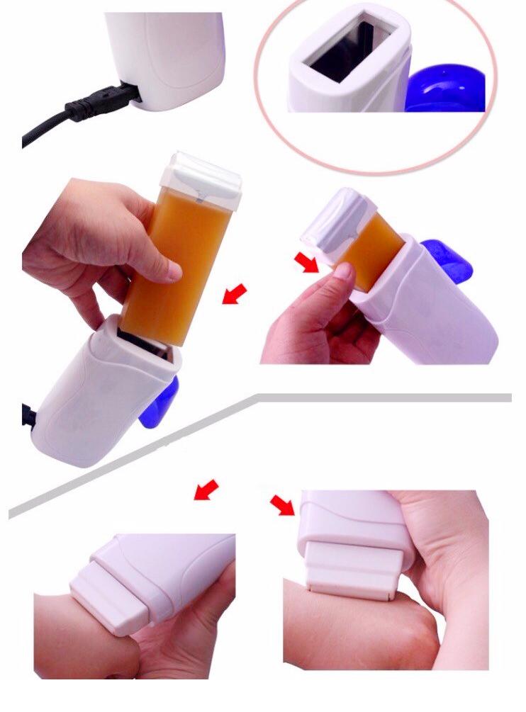 Combo Máy Wax Lông + 1 Sáp Wax Mật Ong + 10 Tờ Giấy Wax