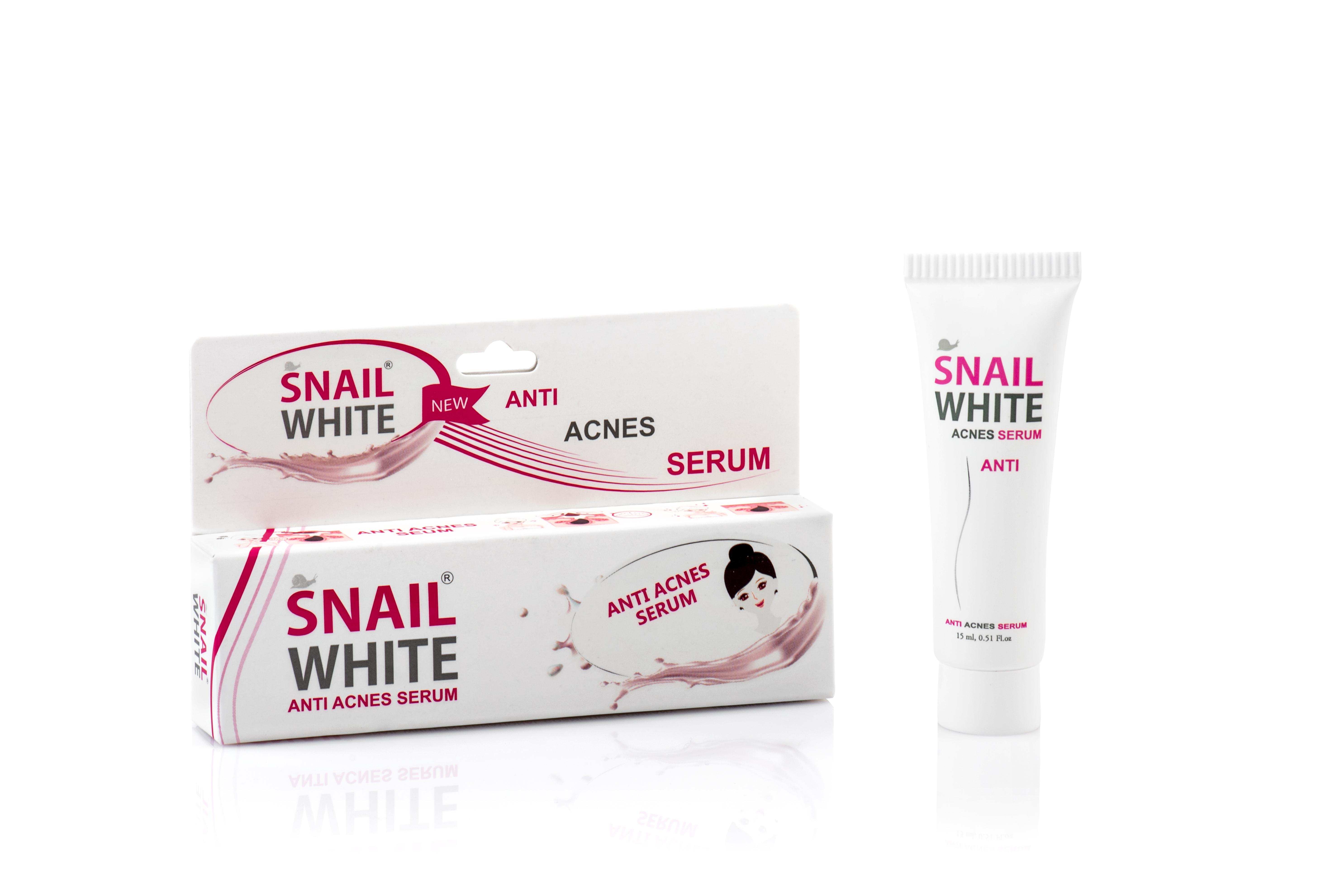 Combo 3 serum mụn snail white anti acnes serum