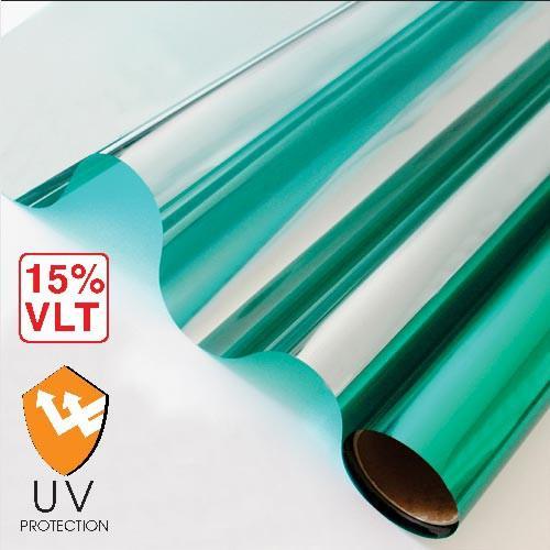 Combo 5m X 100cm decal FIlm cách nhiệt phản quang ( Bạc / Xanh Lá / Xanh Biển / Đen )