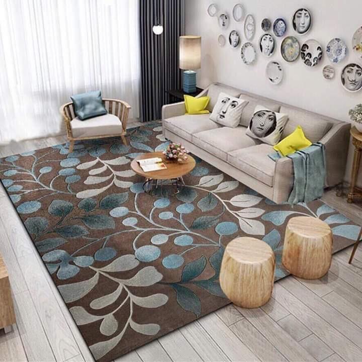 Thảm Bali trải sàn, phòng khách 1m6 x 2m3 mẫu mới rong biển