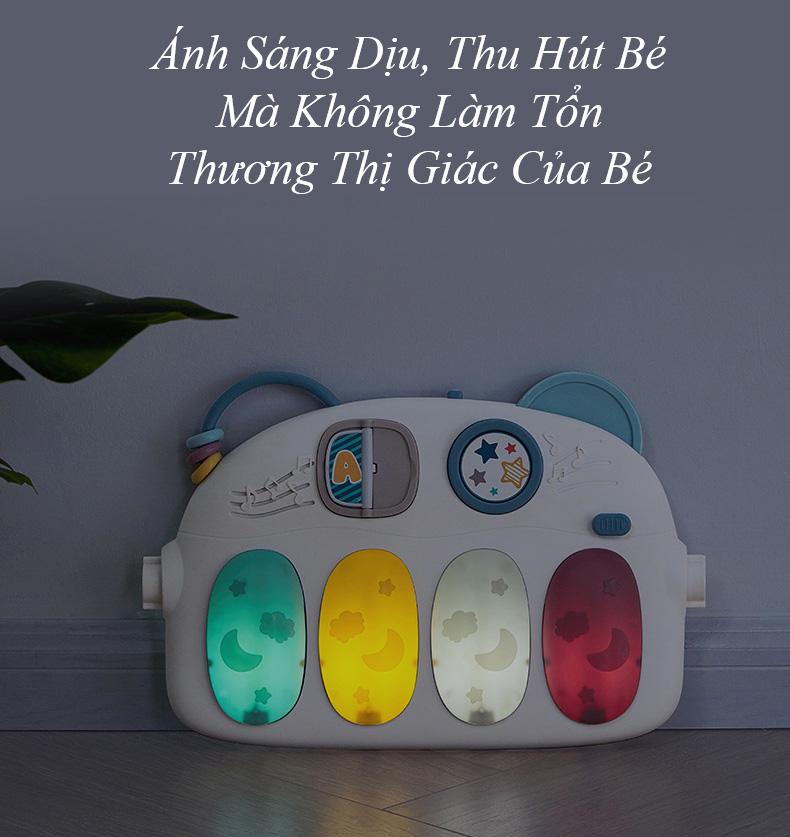 Thảm Nằm Chơi Kèm Thú Bông Có Nhạc Và Đèn, Kết Nối Bluetooth - KUB