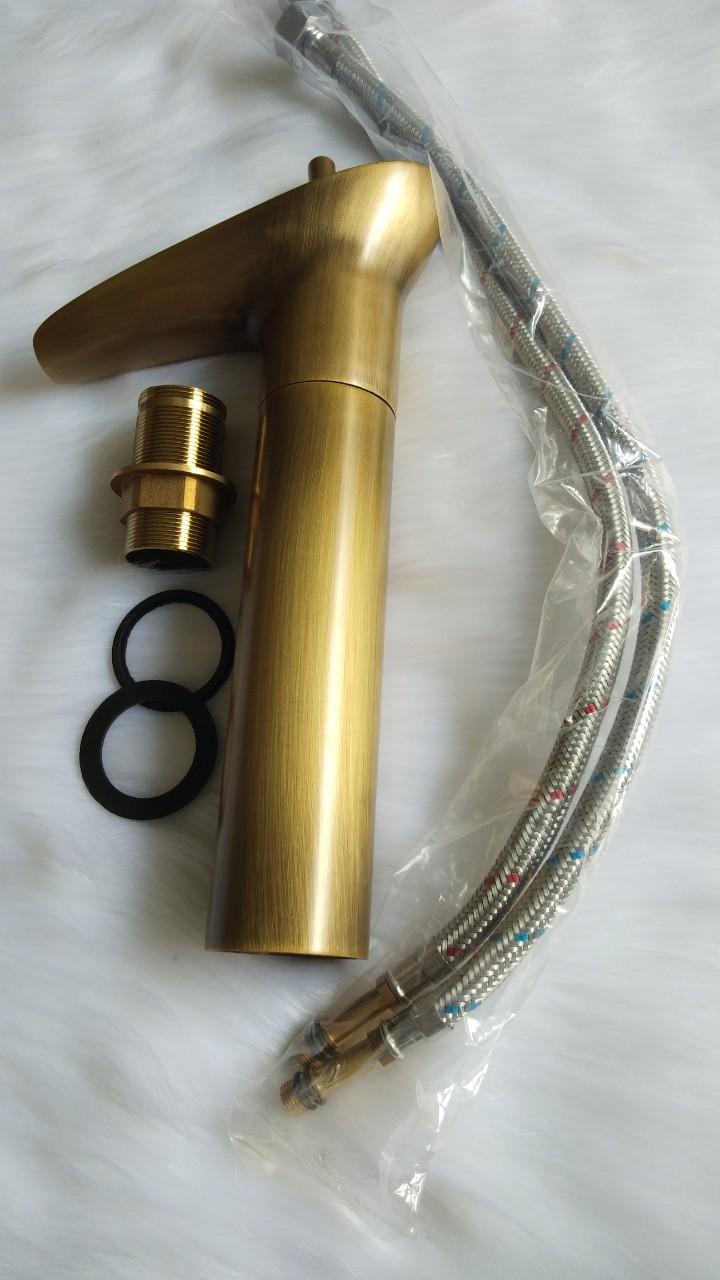 Vòi lavabo đồng trúc sử dụng được cho cả nóng và lạnh, sang trọng và cổ điển