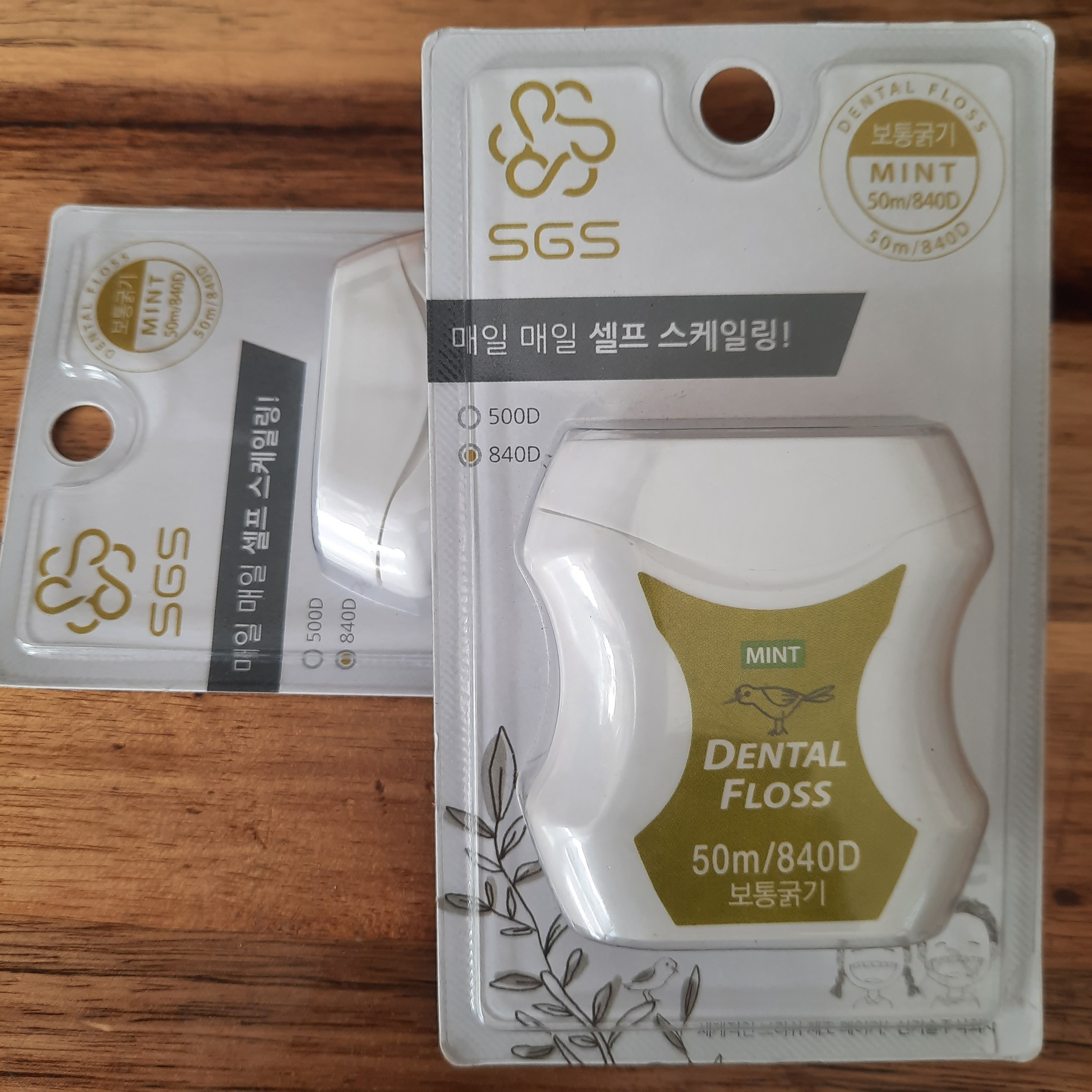 Combo 2 chỉ nha khoa SGS nhập khẩu Hàn Quốc - Loại 840D hương bạc hà (Sản xuất trực tiếp tại Hàn Quốc)