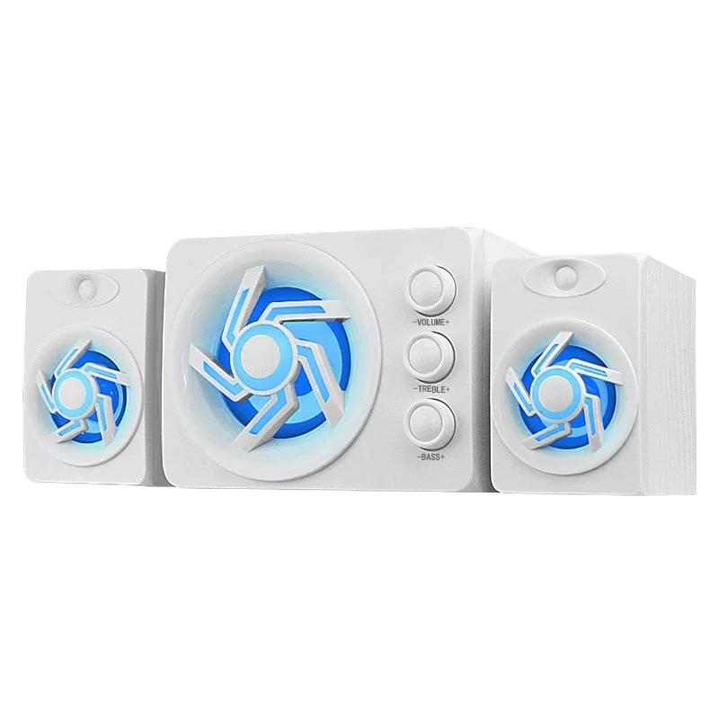 Bộ Loa Vi Tính Để Bàn D-209 Âm Thanh Trầm Hỗ Trợ Bluetooth, USB, Thẻ nhớ, Jack 3.5(màu ngẫu nhiên)