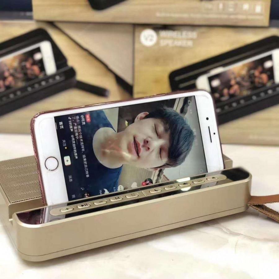 Loa bluetooth V2 kiêm giá đỡ điện thoại cực đẹp