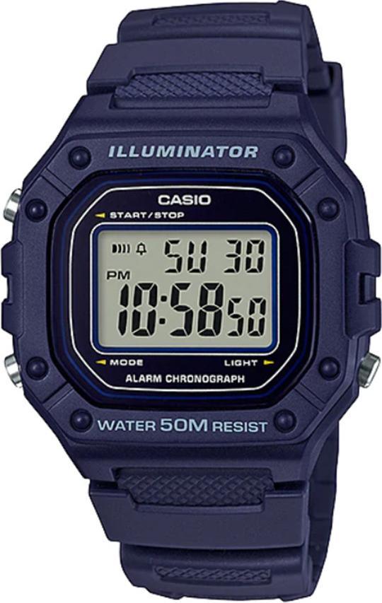 Đồng hồ nam dây nhựa Casio W-218H-2AVDF