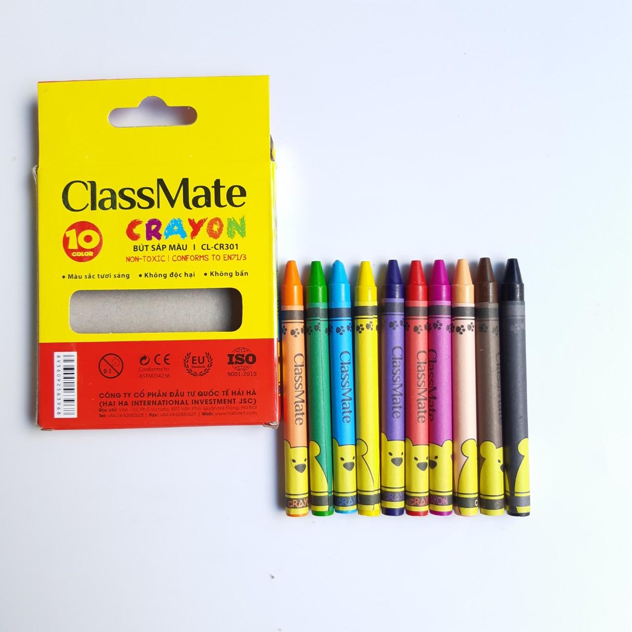 Combo 5 bộ Bút sáp màu Classmate