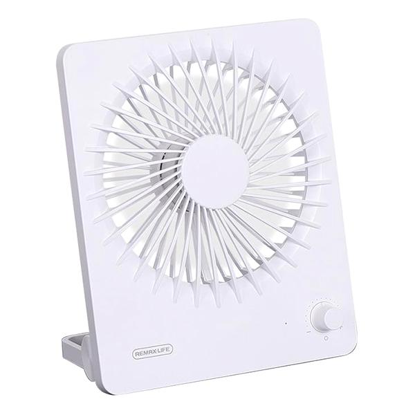 Quạt Để Bàn Mini Remax RL-FN08 (2000mAh) - Màu trắng - Hàng Chính Hãng
