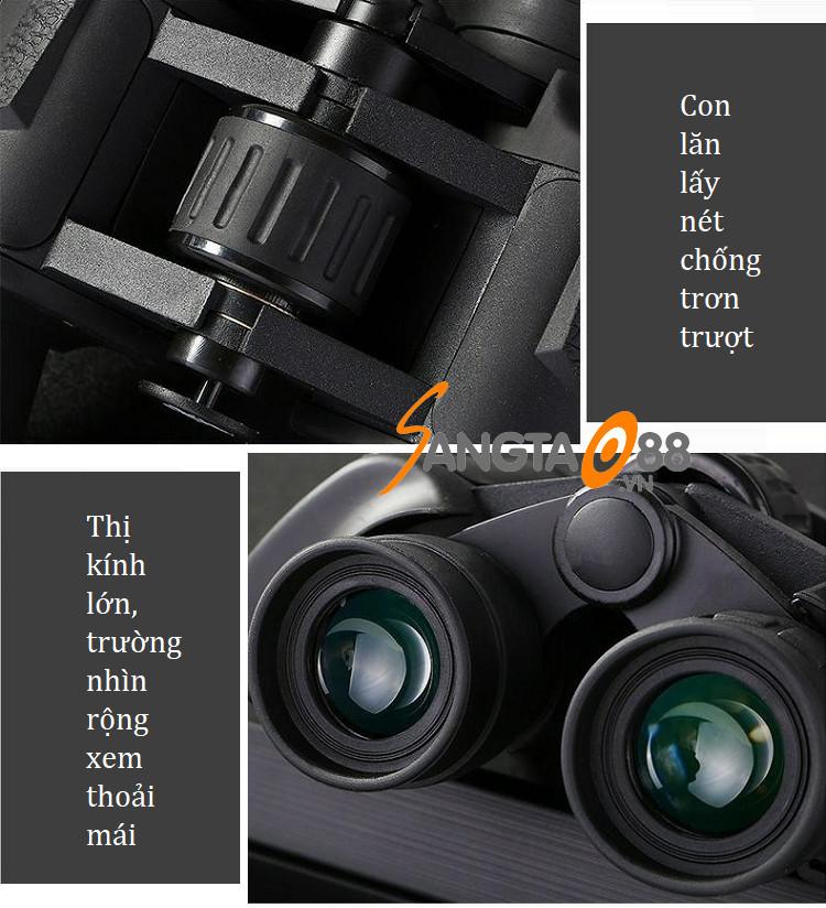 Ống nhòm 20x50 chuyên dụng nhìn xa, siêu nét  (Tặng móc khóa đa năng 7in1)