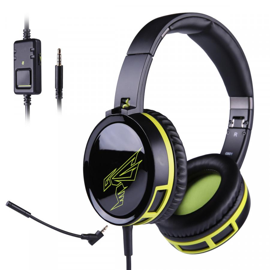 Tai nghe chơi game Somic G801 với microphone đàm thoại và jack cắm 3.5 - Hàng chính hãng