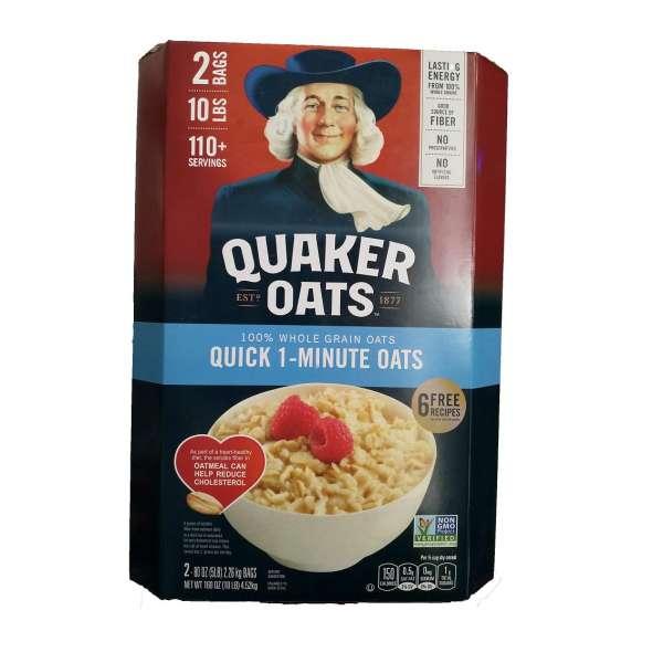 Yến Mạch Quaker Oats Quick - 1 Minute 4.52kg ( Dạng Hạt Cán Vỡ nk my  )