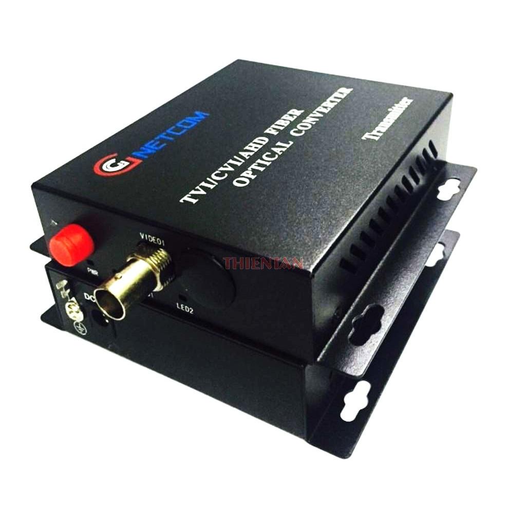 Bộ chuyển đổi video sang quang 1 kênh GNETCOM HL-1V-20T/R-720P (2 thiết bị,2 adapter) - Hàng Chính Hãng