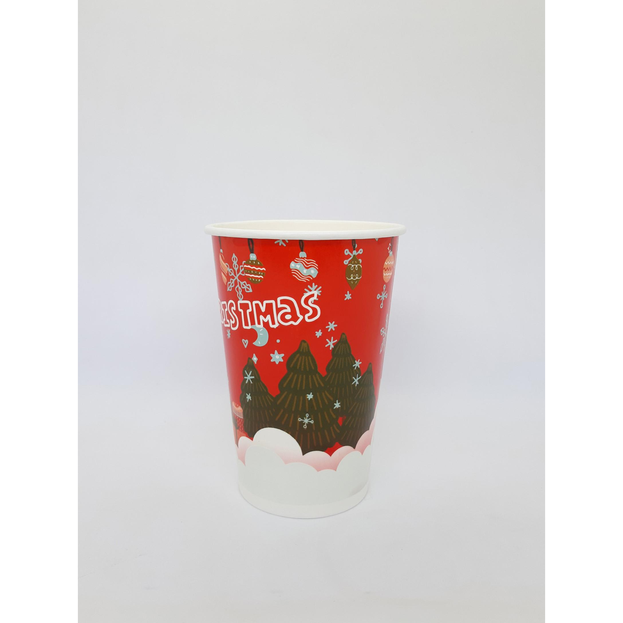 Ly giấy 16oz Giáng Sinh (480ml) 2PE lốc 50 cái (không gồm nắp)