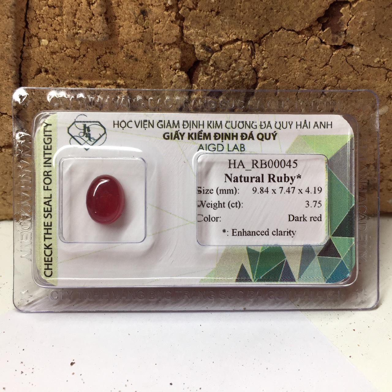 Viên đá Ruby thiên nhiên_HA-RB00045
