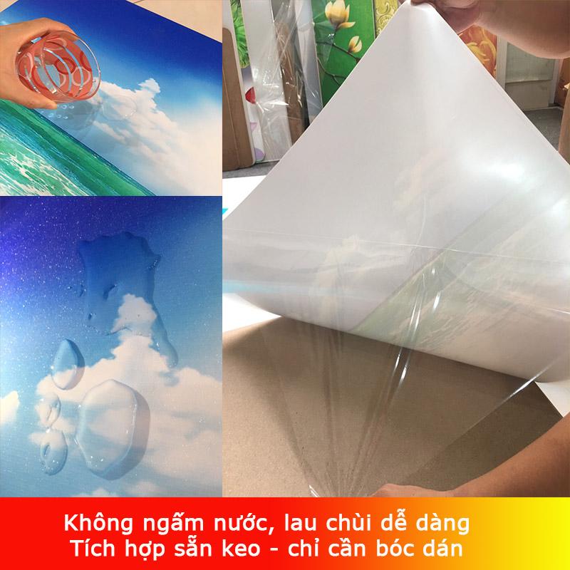 Decal Bóc Dán - Tranh Dán Tường Hoa 3D - T3M---10864-demo