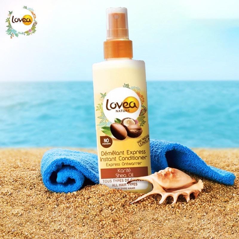 Xịt dưỡng tóc chắc khoẻ, mềm mại từ Bơ hạt mỡ LOVEA Karité Karma Démêlant Express 250ml