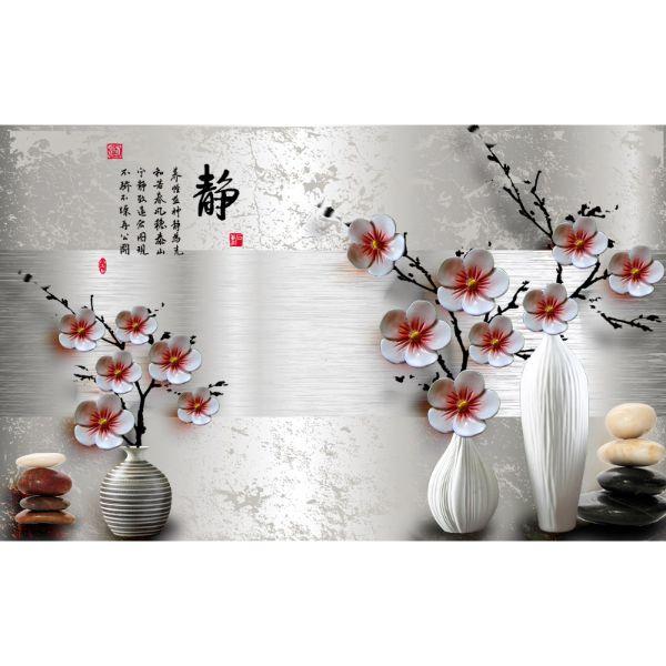 Decal Dán Tường - Tranh Bình Hoa - T3M--3182-copy