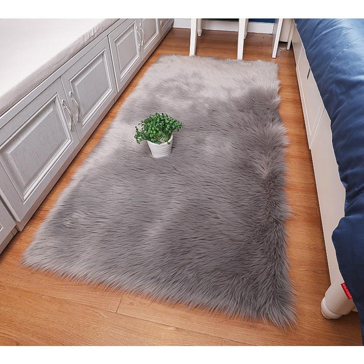 Thảm lông xám trải sàn siêu mượt dành cho trang trí nhà thảm chụp ảnh