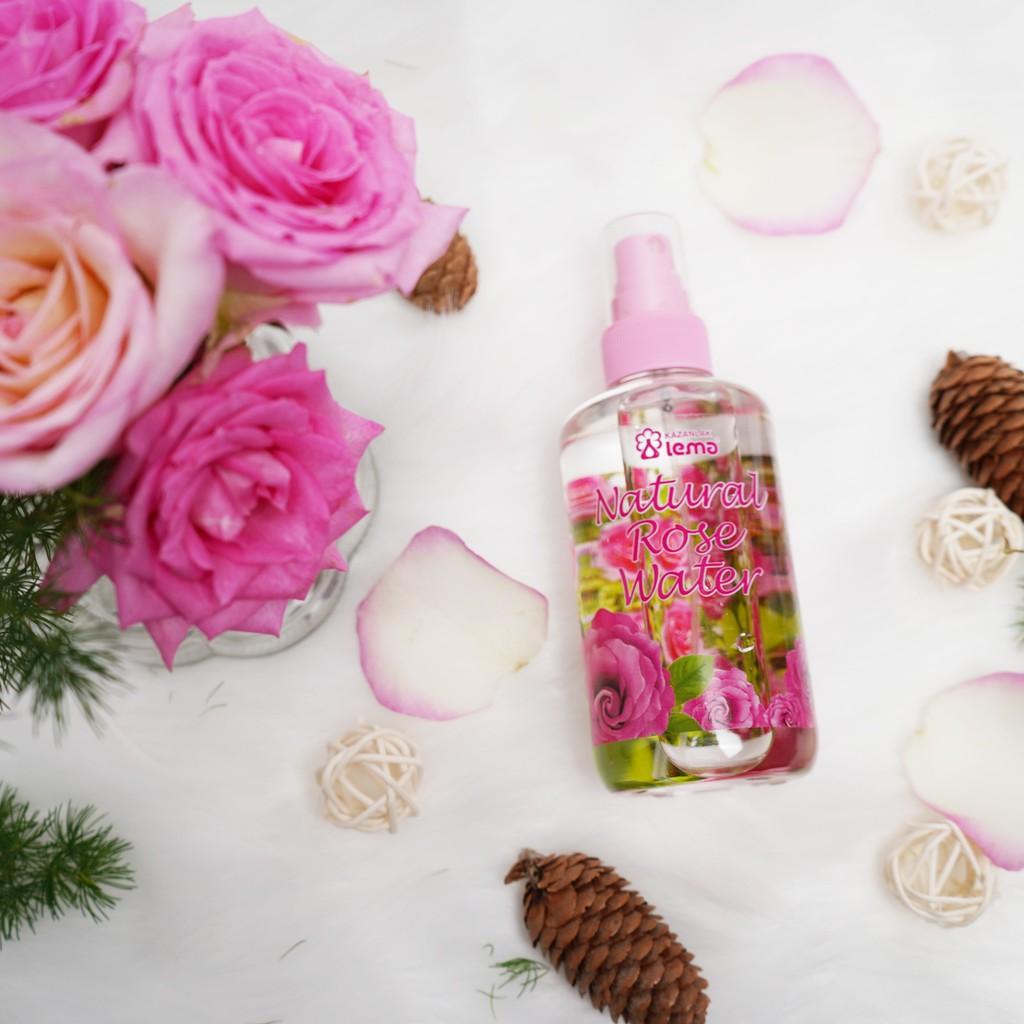 Nước hoa hồng Bulgaria thương hiệu Lema 250ml tự nhiên dạng xịt, nước hoa hồng chất lượng cho mọi làn da
