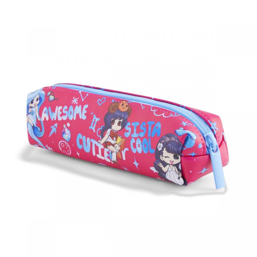 Bóp Viết Lớp Học Mật Ngữ HooHooHaHa Magic Cylinder - Pink (10.5 x 27.5 cm)