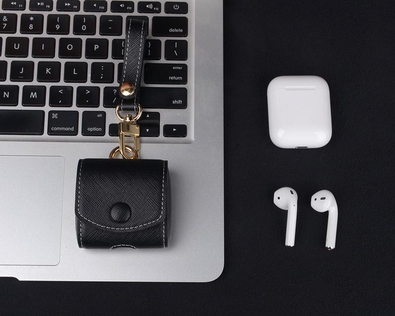 Bao case da thật cho tai nghe Apple Airpods hiệu i-Smile chống sốc - Hàng chính hãng