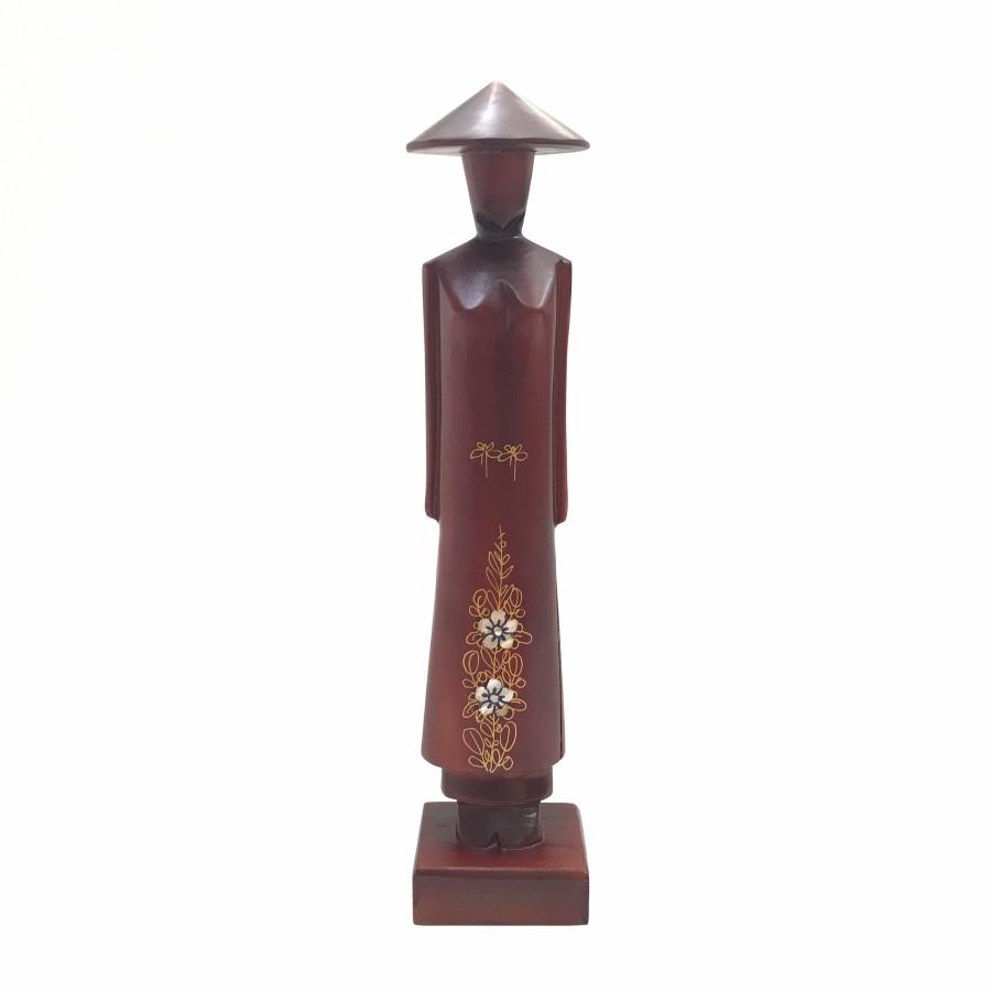 Tượng Gỗ Miss Việt Nam - Cao 30cm - Gỗ Đỏ